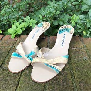 Manolo Blahnik Kitten Sandal Heels
